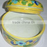 Blue Pottery Containers manufacturer , Blue Pottery Containers Exporter , Blue Pottery Containers Wholesaler