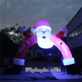 Christmas Lighting Arch Inflatable Santa Claus with Led Light for Outdoor Decoration