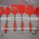 6pc nylon kitchen tools,nylon kitchenware with steel handle