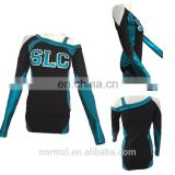 Hot slae custom sublimation cheerleading uniforms quick dry teamwear /professional high quality cheerleading uniforms