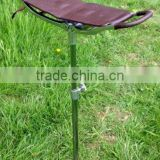 STRONG LEATHER SHOOTING STICK RACING FOLDING SEAT SHOWS CHAIR STOOL