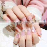 Glitter Design False Nails Art Tips Fake Artificial French Nails