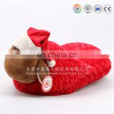China ICTI factory warm plush stuffed indoor shoes