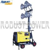 truck mounted telescopic light tower pole