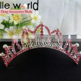 Elegant 10 CM Crown Rhinestone Tiara Hair Comb for Wedding