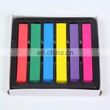 Hot Selling No Harmful Temporary Powder Hair Dye Charming 6 Colored Hair Chalk Cheaper Price