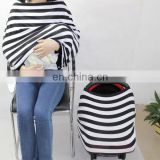 high multi-use nursing scarf cover , stretchy baby car seat cover canopy