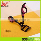 Fashional top quality rubber plastic soft handle double colors women eyelash curl