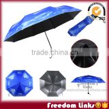 Blue Sky Print Umbrella With Coating UV Prevent