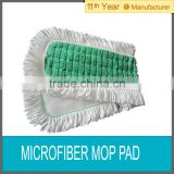 Microfiber scrubbing mop pad with fringe
