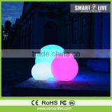 Induction charge waterproof multi color outdoor hanging led light balls