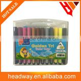High quality triangle 24colors highlighter pen set with plastic box