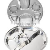 Stainless Steel Military Mess Tray Compartment Food Tray