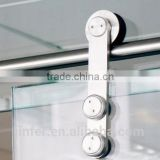 Modern Stainless Steel Glass Sliding Barn Door Interior New Rail Track SD0117700