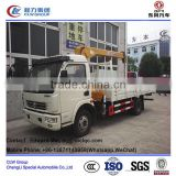 dongfeng 4*2 type 120 hp 6 tons truck mounted crane, 6 tons telescoped crane truck, 6 tons hiab knuckle crane truck