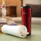 480ml Stainless Steel Double Wall Insulated Vacuum Termo Cup Car Mug With Silicone Sleeve
