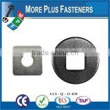 Made in Taiwan Carbon Steel High Quality Square Hole Flat Carriage Bolt Washer