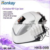 2mhz Skin Tightening Body Skin Rejuvenation Slimming Machine Cavitation+Tripolar RF+Lipolaser