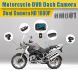 HFK IP67 waterproof motorcycle dvr dash cam with double Sony camera