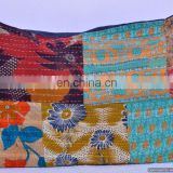 Indian Cushion Cover Vintage Kantha Throw Pillow Cover In Patchwork Throw Decor
