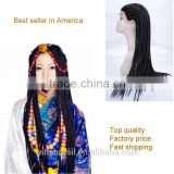 Hot Selling Synthetic Lace TOP Quality Braids Wigs Brazilian Hair