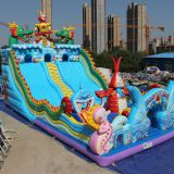 Interesting Toys Inflatable Slide And Castle for Children on Sale