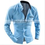 Foreign trade men's business casual long sleeved dot Shirt