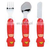 High quality popular beautiful design cartoon tableware cartoon kitchen tool 3pcs/set cartoon tableware