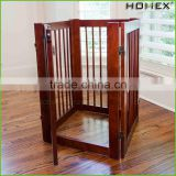 Wood Attractive Pet Fence Portable Dog Fence Homex_BSCI Factory