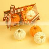 Halloween Pumpkin Fruit Candle Table Decor Quirky Food Vegetables Candle