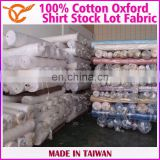 Taiwan Online Shopping 100% Cotton Check Oxford Stock Lot Fabric