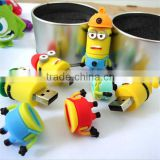 promotional gift cute mini cartoon character usb pendrive usb flash drives memory stick with high quality and factory price