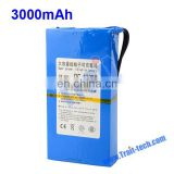 DC 1298A Battery Rechargeable 12V 3000mah Li-Polymer Battery Pack for CCTV Camera Car
