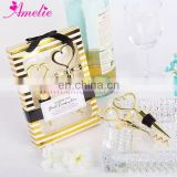 New Luxury Gold Color Bride & Groom Combination Bottle Opener and Stopper Wedding Souvenirs