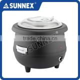 SUNNEX Economy Specialized Black Polypropylene Body Aluminium Water Jacket Polycarbonate Cover Electric Soup Kettle