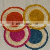 round colorful maize mat
