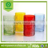 beautiful colorful water set glass cooler drinking set