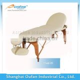 Acrofine oval-lll wooden portable massage table PU leather massage table with headrest and comfortable feeling