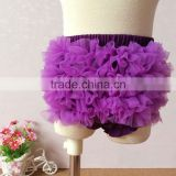 Cotton Tulle Ruffle Bow Baby Bloomer Diaper Cover