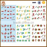 World Cup Nail Stciker Country Flag Water Nail Decals