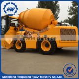 High Quality 2.0cbm Self Loading Concrete Mixer Truck with Electronic Weighing