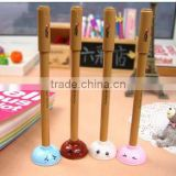 Cute Toilet Plunger PVC with wood handle factory