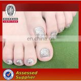 glitter fake toe nail tips