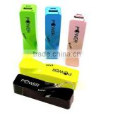New universal portable cell phone charger 2800mah power bank perfume
