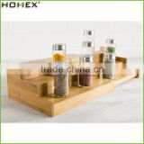 Bamboo Expandable Cabinet Spice Rack Step Shelf Homex-BSCI