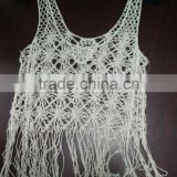 fashion tops in chemical lace with sexy fringe