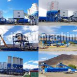 HZS180 concrete mixing station for sale in Libya