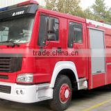 Famous Howo Fire fighting truck with water and foam