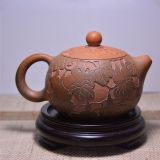 200ML Ceramic Tea Pot Half Gourd Tea Pot Handmade Tea Ware