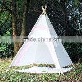 ShiJ Manufacturer Pink Round Door Party Beach Teepee Tipi Tent